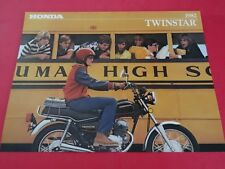 1982 Honda CM200 T Twinstar Motorcycle Sales Brochure  - Literature