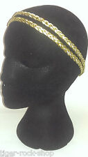 2 x doux bandeaux or & blanc double tresse twist plat grecian style band
