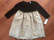 Wonder Kids Fancy Brown & Gold Layered Lined Dress Christmas/Wedding Sz 4T NWT