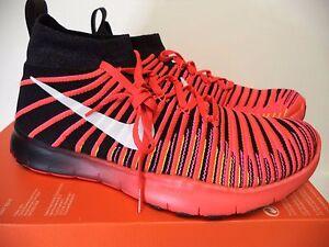 Nike men FREE TRAIN FORCE FLYKNIT athletic sneakers 11.5 (11) crimson 833275 001