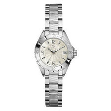 NEW NWT GUESS COLLECTION GC XL-S MINI LADY WATCH SS BRACELET G68001L1 MOP DATE