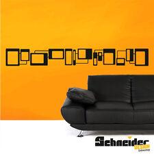 Wandtattoo Retro Bordüre Viereck Wandbild Wandaufkleber Formen Muster Sticker