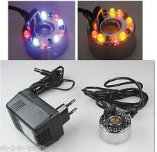Ultraschall Nebler Luftbefeuchter Zerstäuber 12 LED NEU Farbwechsler + Netzteil