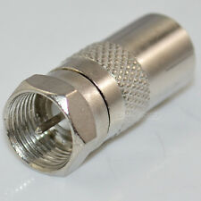 F Male Plug to PAL Female Jack Straight RF coaxial adapter F-type connector TV