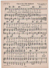 Vintage AMHERST COLLEGE song -'Cheer for Old Amherst' c 1929 - Massachusetts