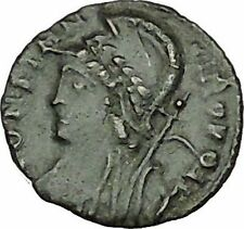 Constantine I The Great founds Constantinople Ancient Roman Coin Soldier i40390