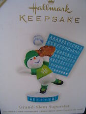 Hallmark 2011 Ornament GRAND SLAM SUPERSTAR Snowman Personalizeable BaseBall NIB
