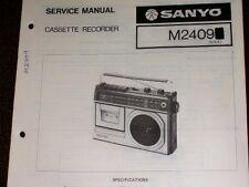 Sanyo M2409 Cassette Recorder Service/Parts Manual