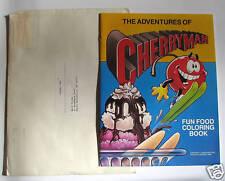 ADV of CHERRY MAN Fun Food Coloring Book Mail Premium