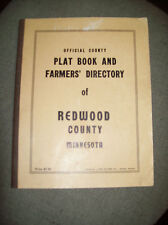 OFFICIAL COUNTY PLAT BOOK & FARMER'S DIRECTORY OF REDWOOD COUNTY MINNESOTA c1950