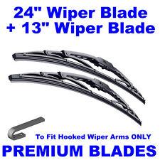 "Premium 24"" Inch & 13"" Inch Pair Front Windscreen Wiper Blades"