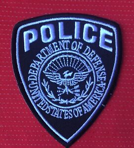 UNITED STATES POLICE DEPARTMENT OF DEFENSE US FLAG BADGE IRON SEW ON PATCH