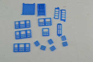 HO Scale Diorama Layout Replacement Part  Window Sills Grids Grates Square Lot