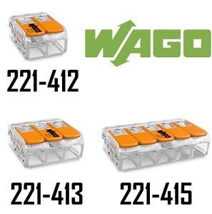 WAGO Klemmen 221 SET Hebelklemme 221-412   221-413   221-415 Compact Dosenklemme