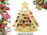 Super sized 18mm Freestanding Christmas Tree Wine Holder Adults Advent Calendar
