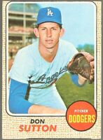1968 Topps Baseball #103 Don Sutton Los Angeles Dodgers Card