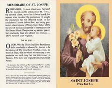 CATHOLIC HOLY CARD    MEMORARE OF SAINT JOSEPH   STYLE 3