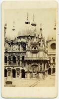 CDV Venezia Cortile Palazzo Ducale Foto originale albumina C. Ponti 1860c S1426