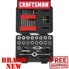 New CRAFTSMAN 39pc Piece INCH TAP and DIE Set SAE Standard Socket Wrench Hex