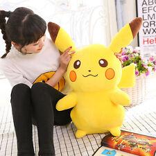 17.7''/45cm Big Pokemon Anime Figura PIKACHU peluche juguetes GRANDE CON RELLENO