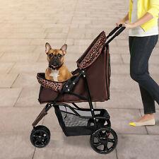 Pet Stroller Dog Cat Folding Carrier Travel Carriage 3 Wheels Pet Supply