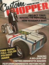 1975 February Custom Chopper - Vintage Motorcycle Magazine w/ Poster