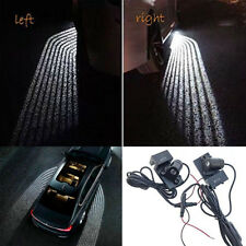2Pc Car Door LED Welcome Lights Laser Ghost Shadow Lights Ground Lamp Kit 1W 12V