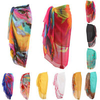 Women Bohemia Chiffon Swimwear Pareo Scarf Beach Cover Up Wrap Kaftan Sarong