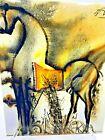 Salvador Dali Glazed Tile 8 by 10 Trojan Horse-Le Cheval de Troie