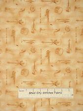 Music Prelude Instruments Harp Drum Cotton Fabric Timeless Treasures C6822 YARD