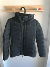 Authentic Moncler Idrial Hooded Short Puffer Jacket Charcoal $1,300 Size 1 Women