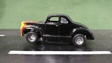 Black Flamed Tyco 1:64 Scale 40' Ford Sedan Slot Car w/HP-2 Chassis