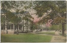 View on Wells Street in Valdosta GA Postcard 1913