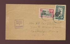 Ceylon regione di Trincomalee Boxed censurare 6 WW2 1941 verso gli USA non SIGILLATA Mail 2C + 3C