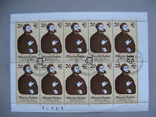 GERMANY DDR, mini-sheet CTO FDC 1983, Martin Luther