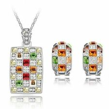 White Gold Plated Multi-Colour Fashion Jewellery Sets