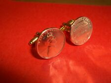 U.S. LINCOLN MEMORIAL 1 CENT COIN CUFFLINKS - 1974 - 44th BIRTHDAY
