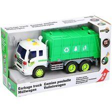 Kinder Spielzeug 1:16 Recycling LKW Auto Müll Müllabfuhr Müllauto Grün Licht Ton