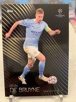 2020-21 Topps UEFA UCL Kevin De Bruyne Manchester City Knockout Card 13 PR: 9072