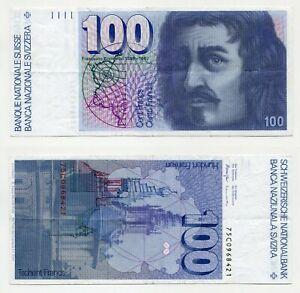 100 Franken Schweiz (19)75  Signatur 50, Erhaltung III+  P.57a