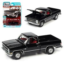Auto World 1:64 1982 Black Chevrolet Silverado 10 Diecast Model Truck AWSP069B