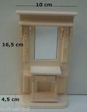 garderobe en bois brut miniature,maison de poupée, vitrine,meuble couloir  occ2