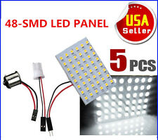 5X T10/921/194&Car RV Trailer 1141/1156/BA15S 48SMD Interior LED Light Panel 12V