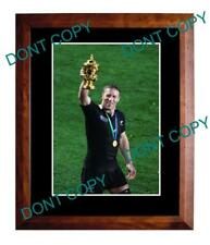 2011 New Zealand All Blacks Rugby World Cup Win A3 Photo, Brad Thorn 2