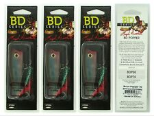 (3) Castaic Boyd Duckett Series BD Popper 70 Aurora Ghost Wakasagi 1/2 Oz. New