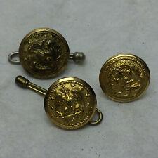 3 Metal Buttons Eagle Anchor Vanguard Corp NS Meyer Inc Waterbury Button Co.