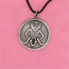 ENGLISH PEWTER - SHEELA NA GIG - PENDANT NECKLACE GREAT MOTHER FERTILITY PAGAN