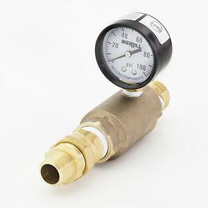 Bison Pumps Pressurizing Kit with Check Valve, Gauge and Hose