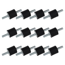 "Set of 12 M6 Thread Rubber Vibration Isolator Shock Mounts 1/4-20 (3/4""x3/4"") FS"