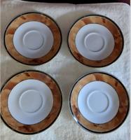 Retroneu Fine China Wood Garland #226 Saucer Set of 4